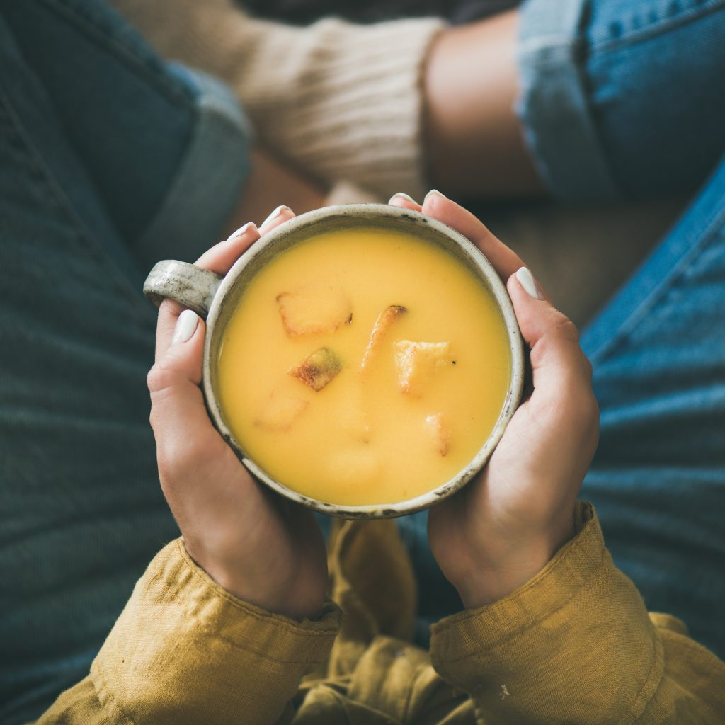 The perfect, warm bowl of soup